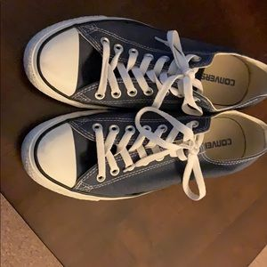 Navy Converse All Stars (size 8.5)